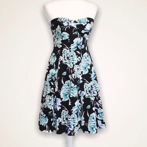 White House Black Market Strapless Floral Dress 4
